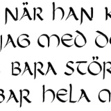 Första kalligrafiarbetet!